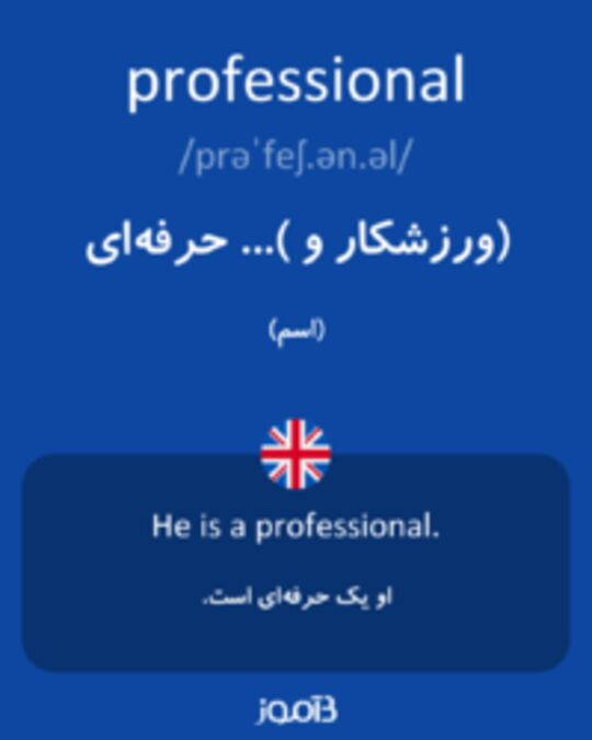 تصویر professional - دیکشنری انگلیسی بیاموز