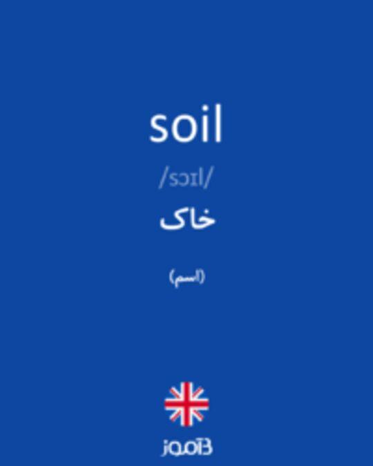 تصویر soil - دیکشنری انگلیسی بیاموز