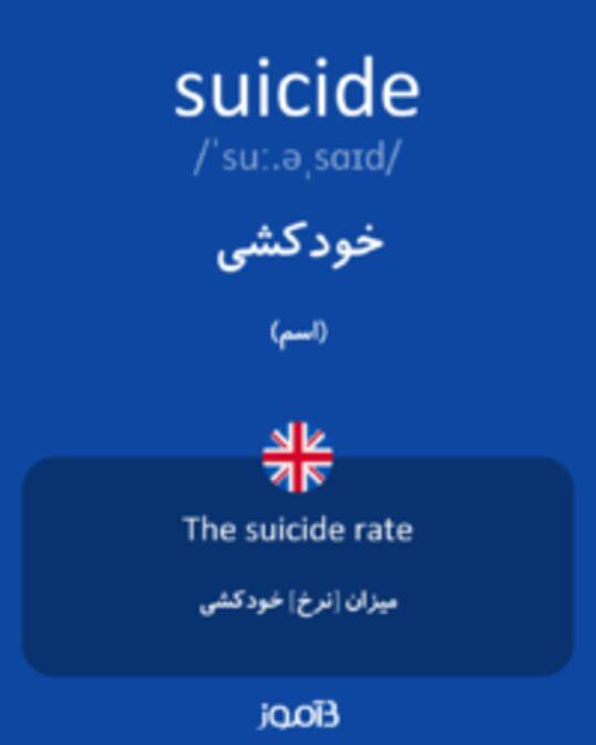 تصویر suicide - دیکشنری انگلیسی بیاموز