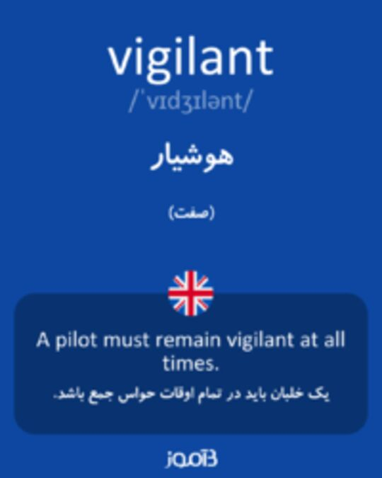 تصویر vigilant - دیکشنری انگلیسی بیاموز