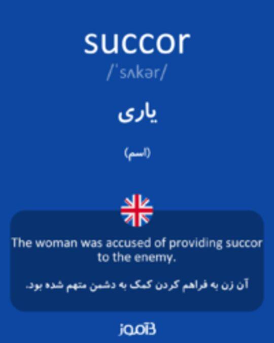 تصویر succor - دیکشنری انگلیسی بیاموز