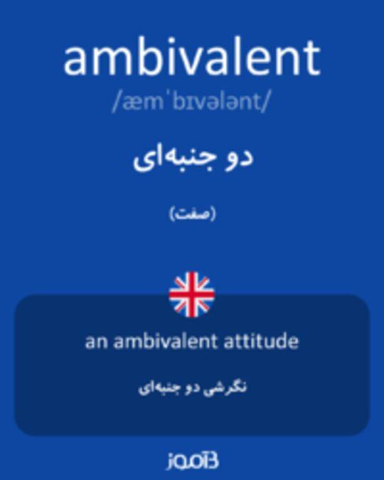 تصویر ambivalent - دیکشنری انگلیسی بیاموز