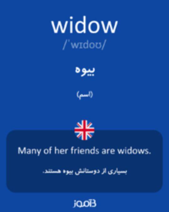 تصویر widow - دیکشنری انگلیسی بیاموز