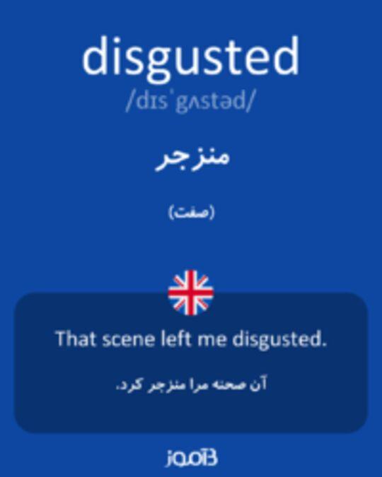 تصویر disgusted - دیکشنری انگلیسی بیاموز