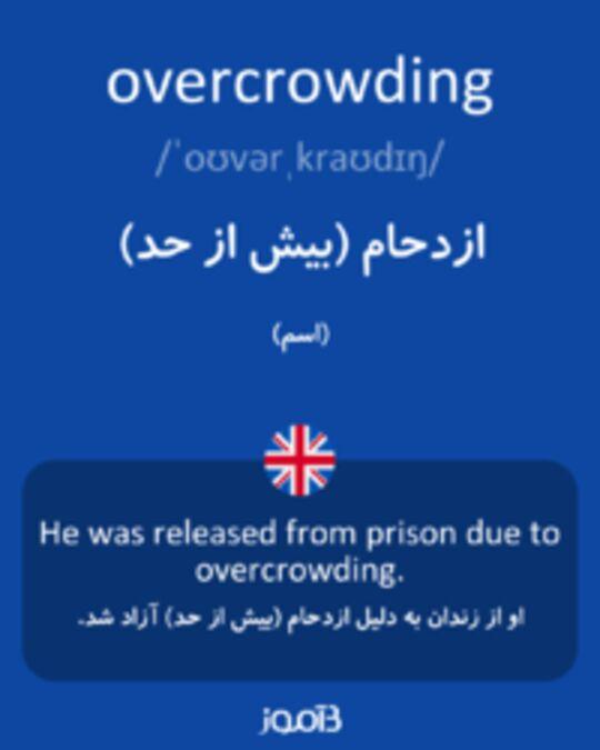 تصویر overcrowding - دیکشنری انگلیسی بیاموز