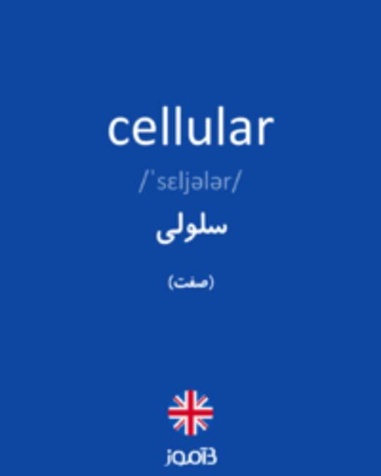 تصویر cellular - دیکشنری انگلیسی بیاموز
