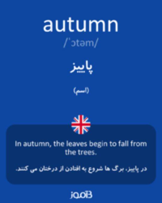 تصویر autumn - دیکشنری انگلیسی بیاموز
