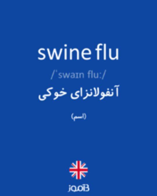 تصویر swine flu - دیکشنری انگلیسی بیاموز