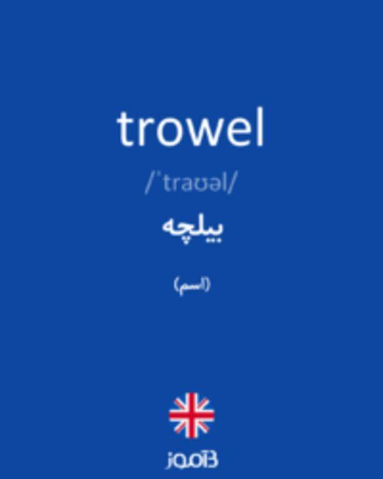 تصویر trowel - دیکشنری انگلیسی بیاموز