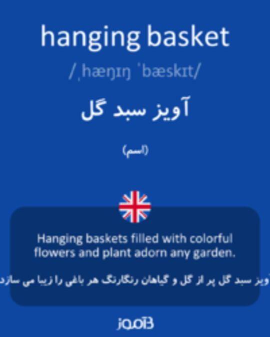 تصویر hanging basket - دیکشنری انگلیسی بیاموز