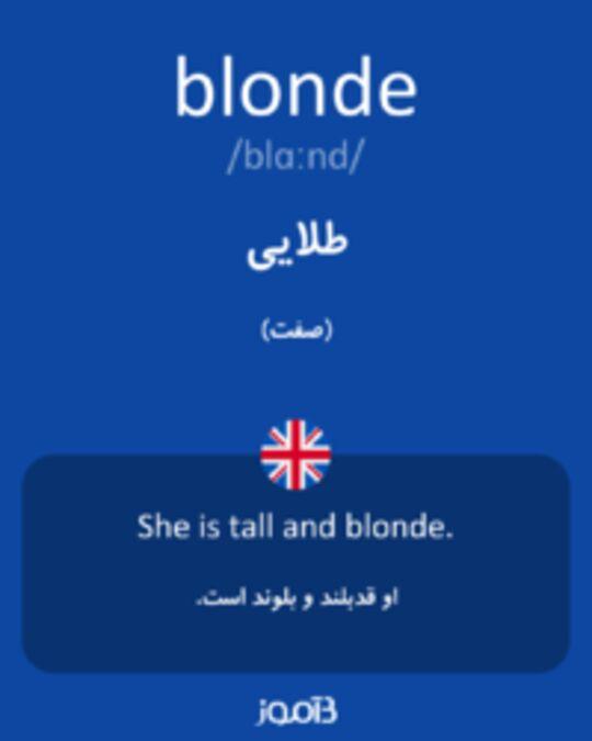 تصویر blonde - دیکشنری انگلیسی بیاموز