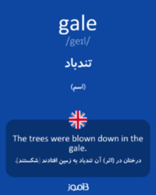 تصویر gale - دیکشنری انگلیسی بیاموز