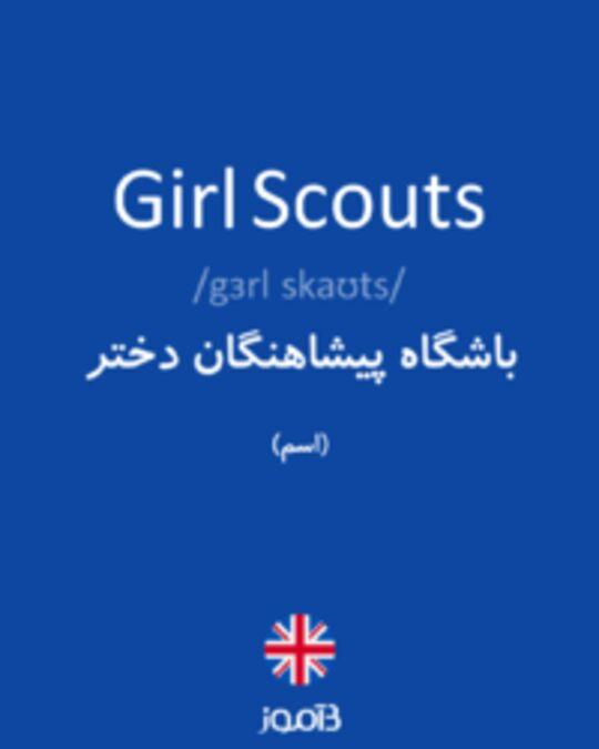 تصویر Girl Scouts - دیکشنری انگلیسی بیاموز