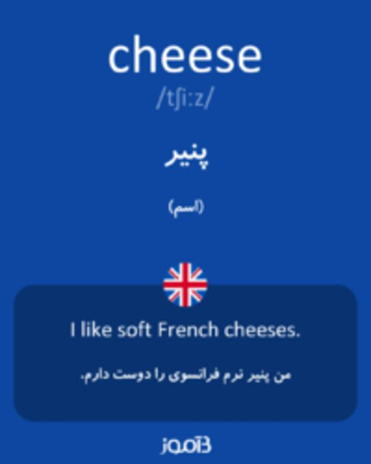 تصویر cheese - دیکشنری انگلیسی بیاموز