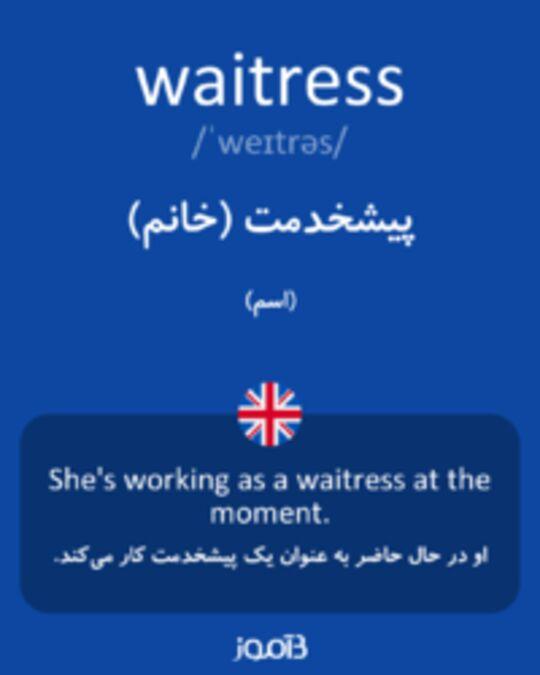 تصویر waitress - دیکشنری انگلیسی بیاموز