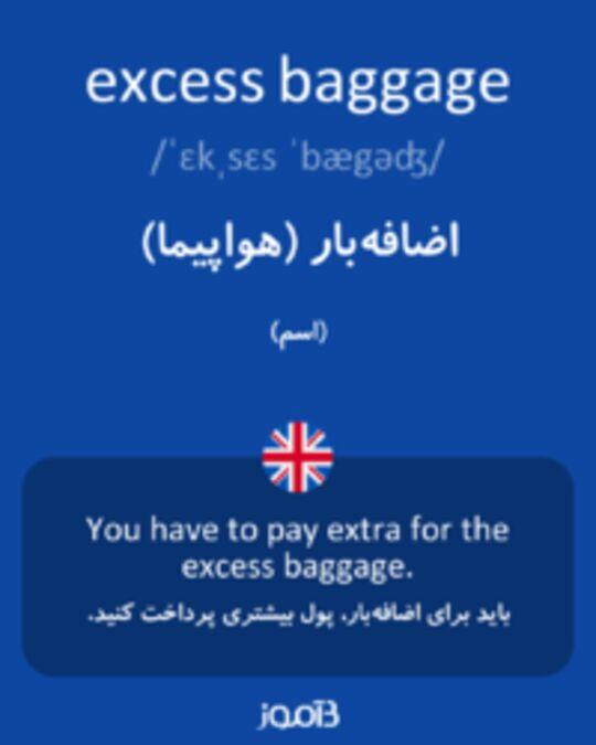 تصویر excess baggage - دیکشنری انگلیسی بیاموز