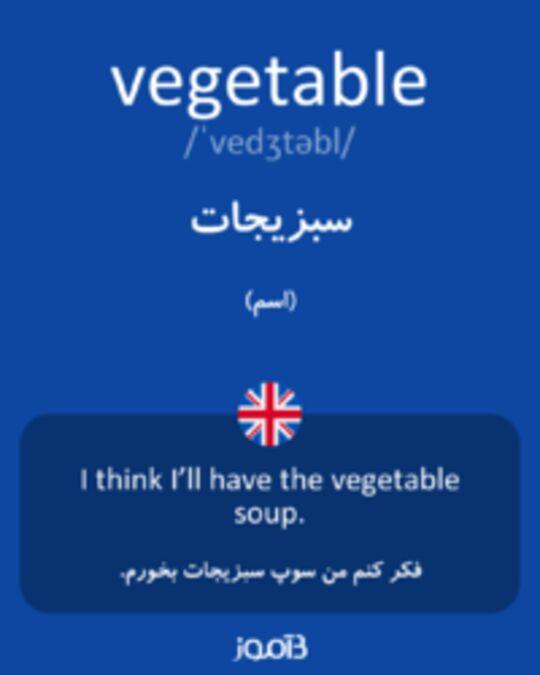 تصویر vegetable - دیکشنری انگلیسی بیاموز