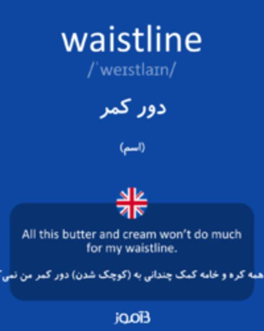 تصویر waistline - دیکشنری انگلیسی بیاموز