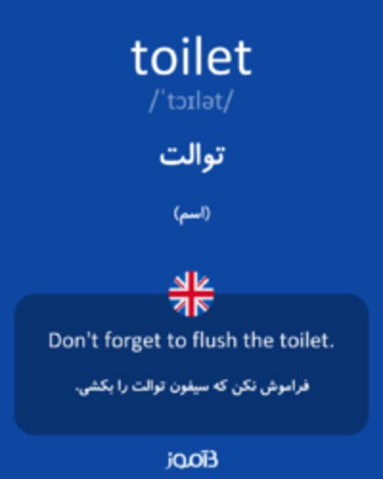 تصویر toilet - دیکشنری انگلیسی بیاموز