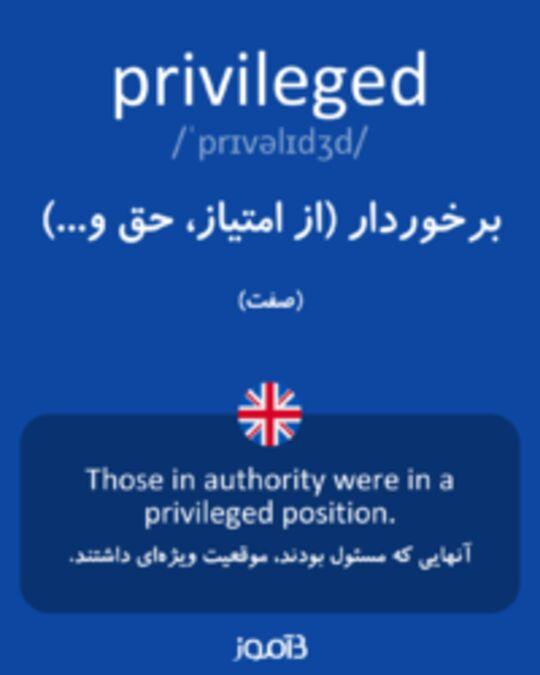 تصویر privileged - دیکشنری انگلیسی بیاموز