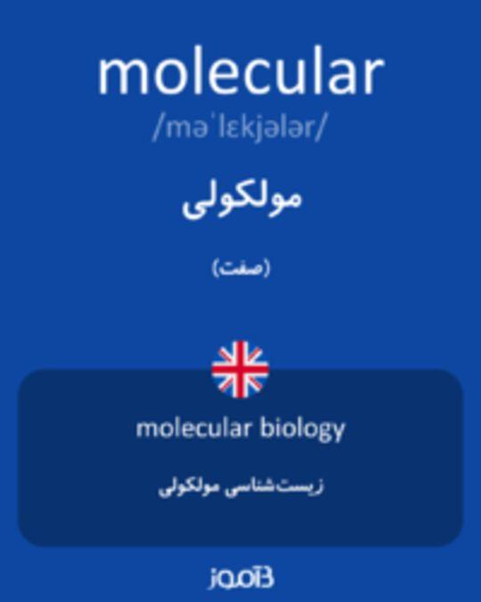 تصویر molecular - دیکشنری انگلیسی بیاموز