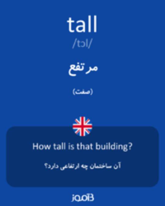 تصویر tall - دیکشنری انگلیسی بیاموز
