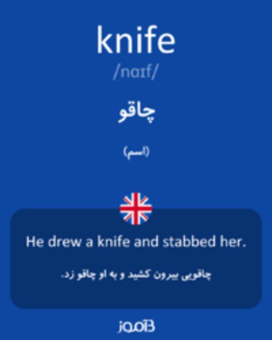 تصویر knife - دیکشنری انگلیسی بیاموز