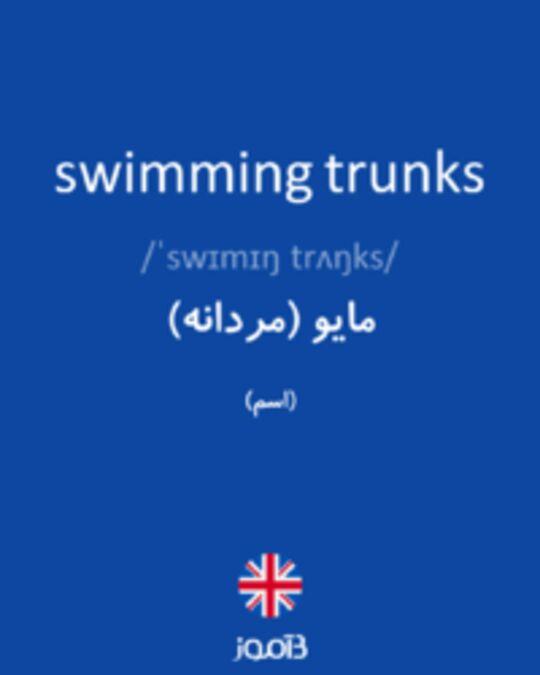 تصویر swimming trunks - دیکشنری انگلیسی بیاموز