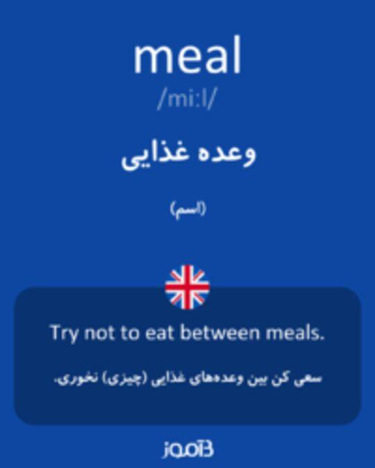 تصویر meal - دیکشنری انگلیسی بیاموز