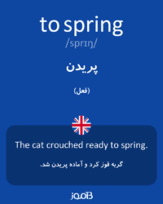 تصویر to spring - دیکشنری انگلیسی بیاموز