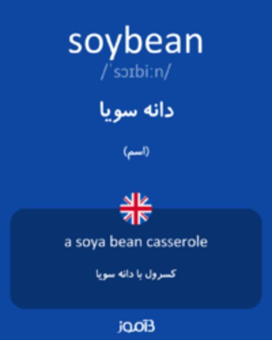 تصویر soybean - دیکشنری انگلیسی بیاموز