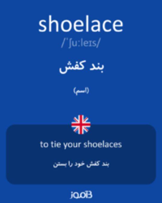تصویر shoelace - دیکشنری انگلیسی بیاموز