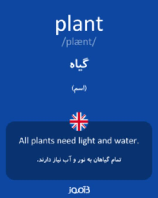 تصویر plant - دیکشنری انگلیسی بیاموز