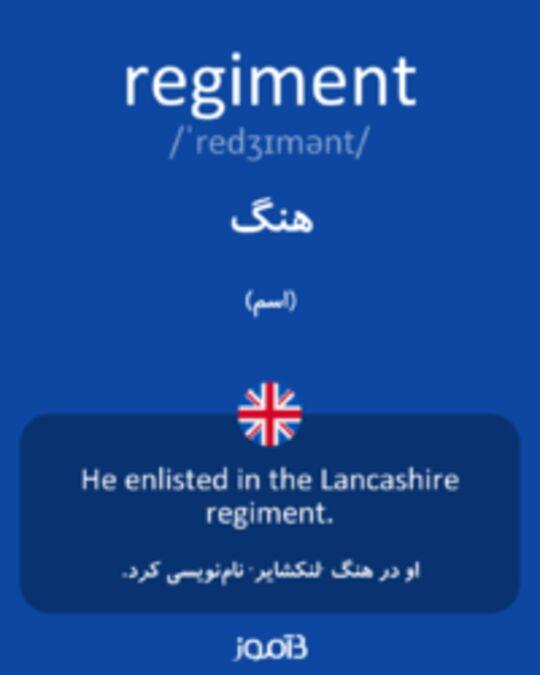 تصویر regiment - دیکشنری انگلیسی بیاموز
