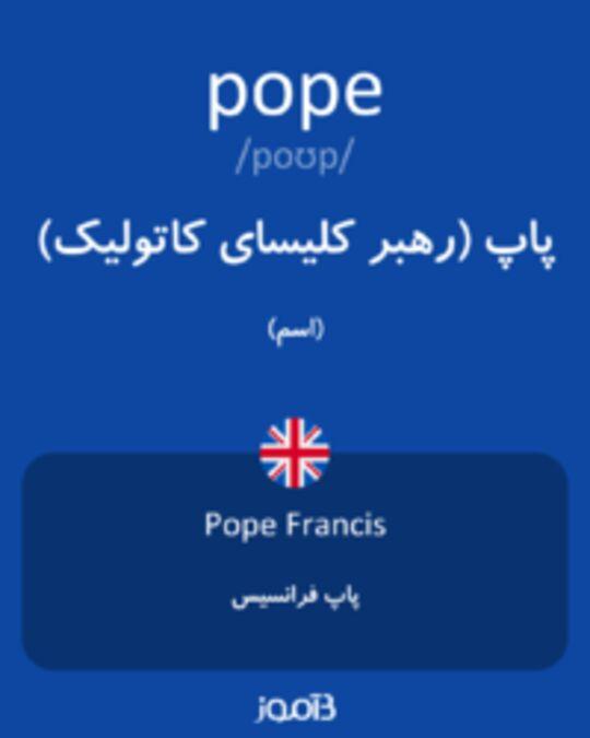 تصویر pope - دیکشنری انگلیسی بیاموز