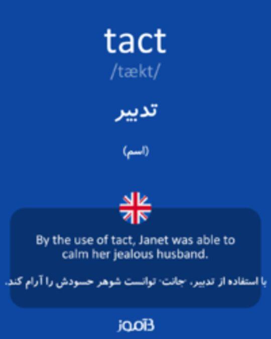تصویر tact - دیکشنری انگلیسی بیاموز
