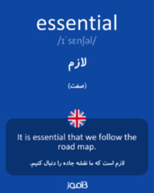 تصویر essential - دیکشنری انگلیسی بیاموز