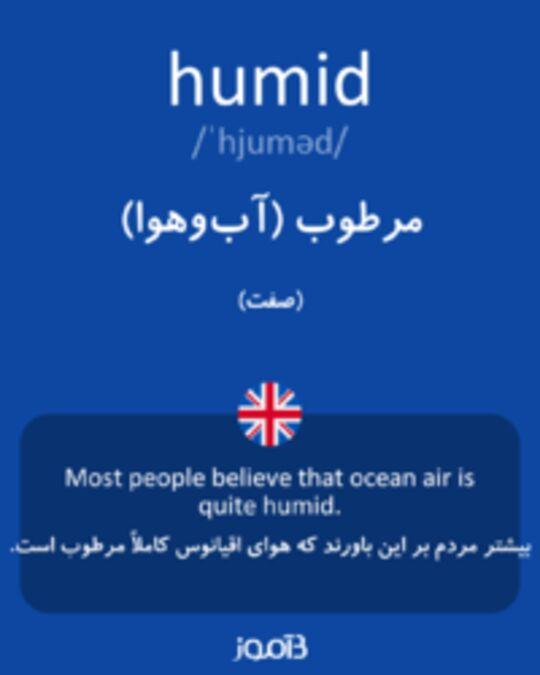 تصویر humid - دیکشنری انگلیسی بیاموز