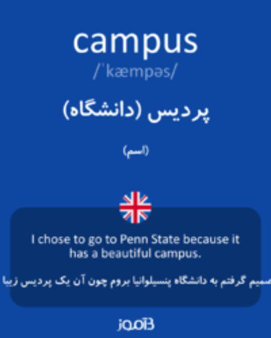 تصویر campus - دیکشنری انگلیسی بیاموز