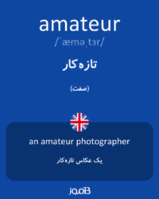 تصویر amateur - دیکشنری انگلیسی بیاموز