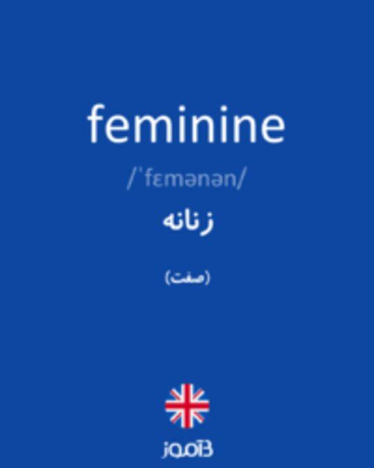 تصویر feminine - دیکشنری انگلیسی بیاموز