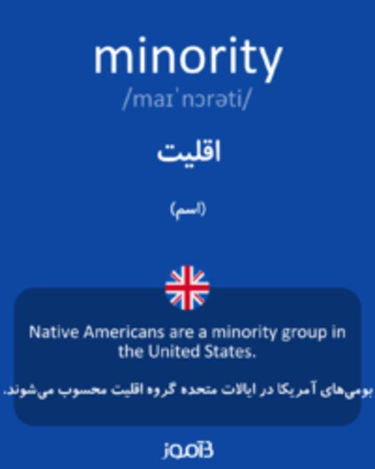 تصویر minority - دیکشنری انگلیسی بیاموز