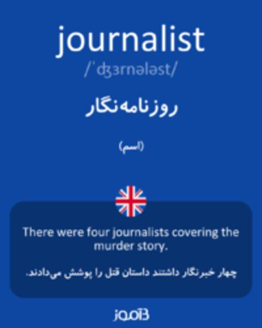 تصویر journalist - دیکشنری انگلیسی بیاموز