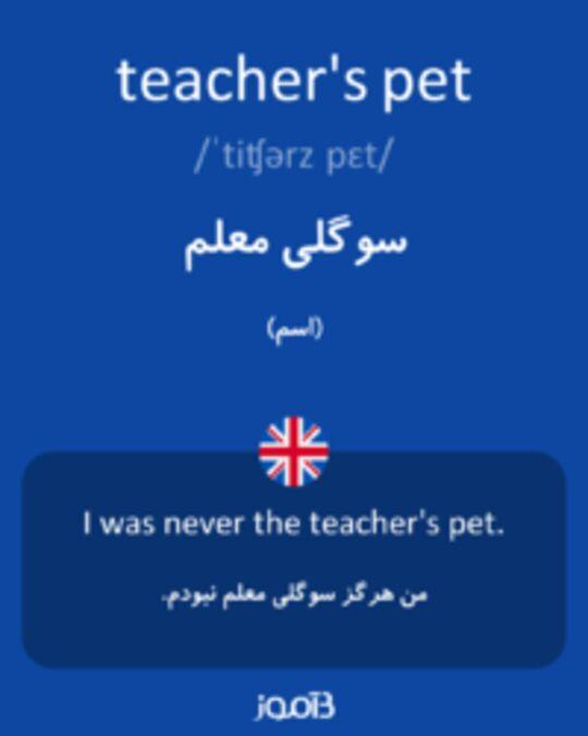 تصویر teacher's pet - دیکشنری انگلیسی بیاموز