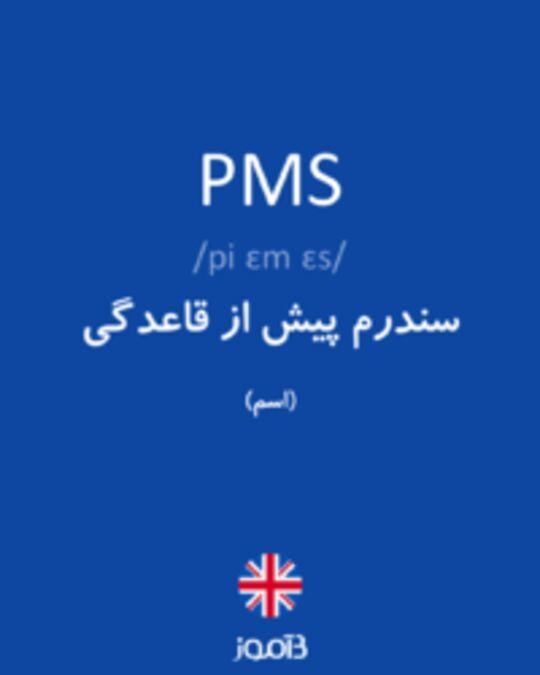 تصویر PMS - دیکشنری انگلیسی بیاموز