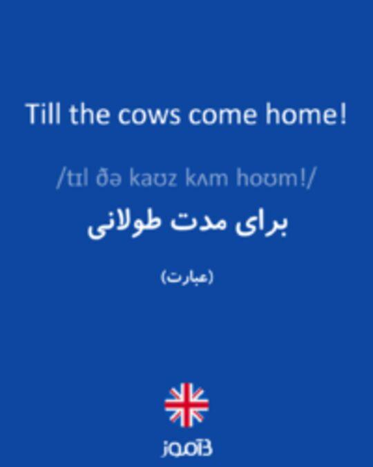 تصویر Till the cows come home! - دیکشنری انگلیسی بیاموز