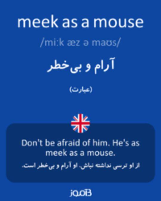 تصویر meek as a mouse - دیکشنری انگلیسی بیاموز