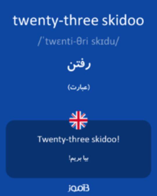 تصویر twenty-three skidoo - دیکشنری انگلیسی بیاموز