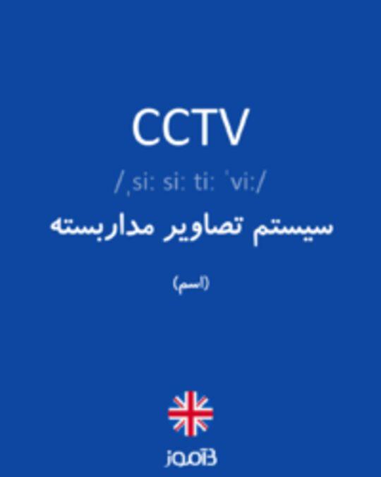 تصویر CCTV - دیکشنری انگلیسی بیاموز