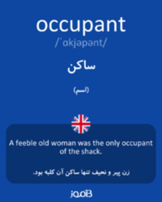 تصویر occupant - دیکشنری انگلیسی بیاموز